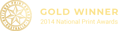 Gold Winner National Print Awards