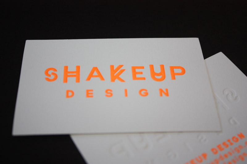 Letterpress printed embossed and foil stamped business cards reheart