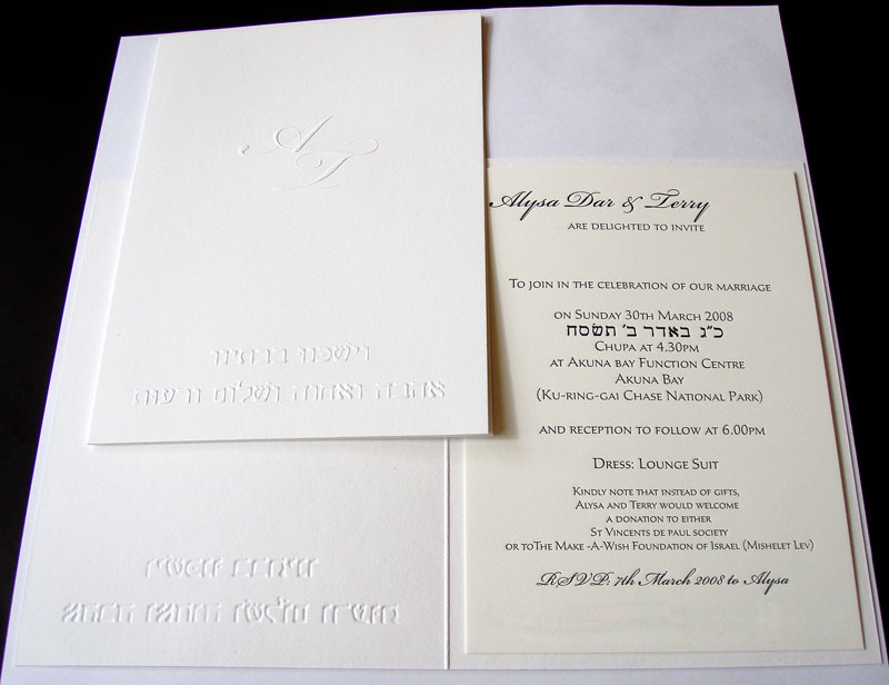 A Selection Of Embossed Works From Watermarx Graphics – Embossed Graphics Wedding Invitations