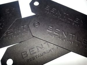 BENTLEY restaurant business cards