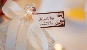 rose gold foil wedding favour