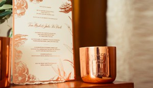 Watermarx wedding invitations rose gold